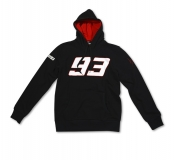 Bluza z kapturem MM93 Marc Marquez Fleece Black, Czarna - MMMFL101504