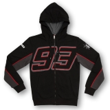 Bluza z kapturem MM93 Marc Marquez 93 Fleece Czarna - MMMFL157204
