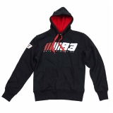 Bluza z kapturem MM93 Marc Marquez Fleece Black, Czarna - MMMFL14704 (MMMFL293104)