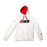 Bluza damska z kapturem MM93 Marc Marquez Woman Fleece White, Biała - MMWFL61706